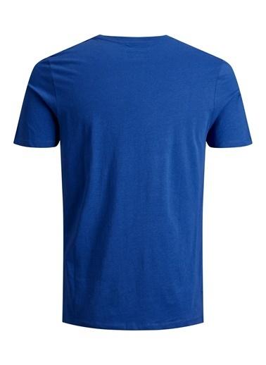 Jack & Jones Jack&Jones Erkek Baskılı T Shirt 12188039 Mavi